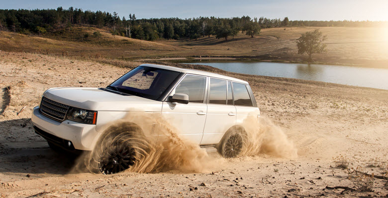 Land Rover on Dirty Road