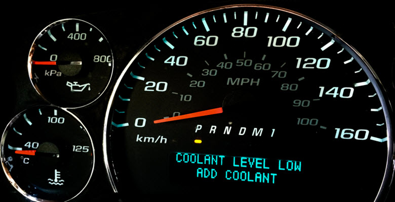 Jaguar Coolant Level Low Warning Light