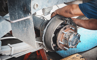 Land Rover Rear Brake Repair